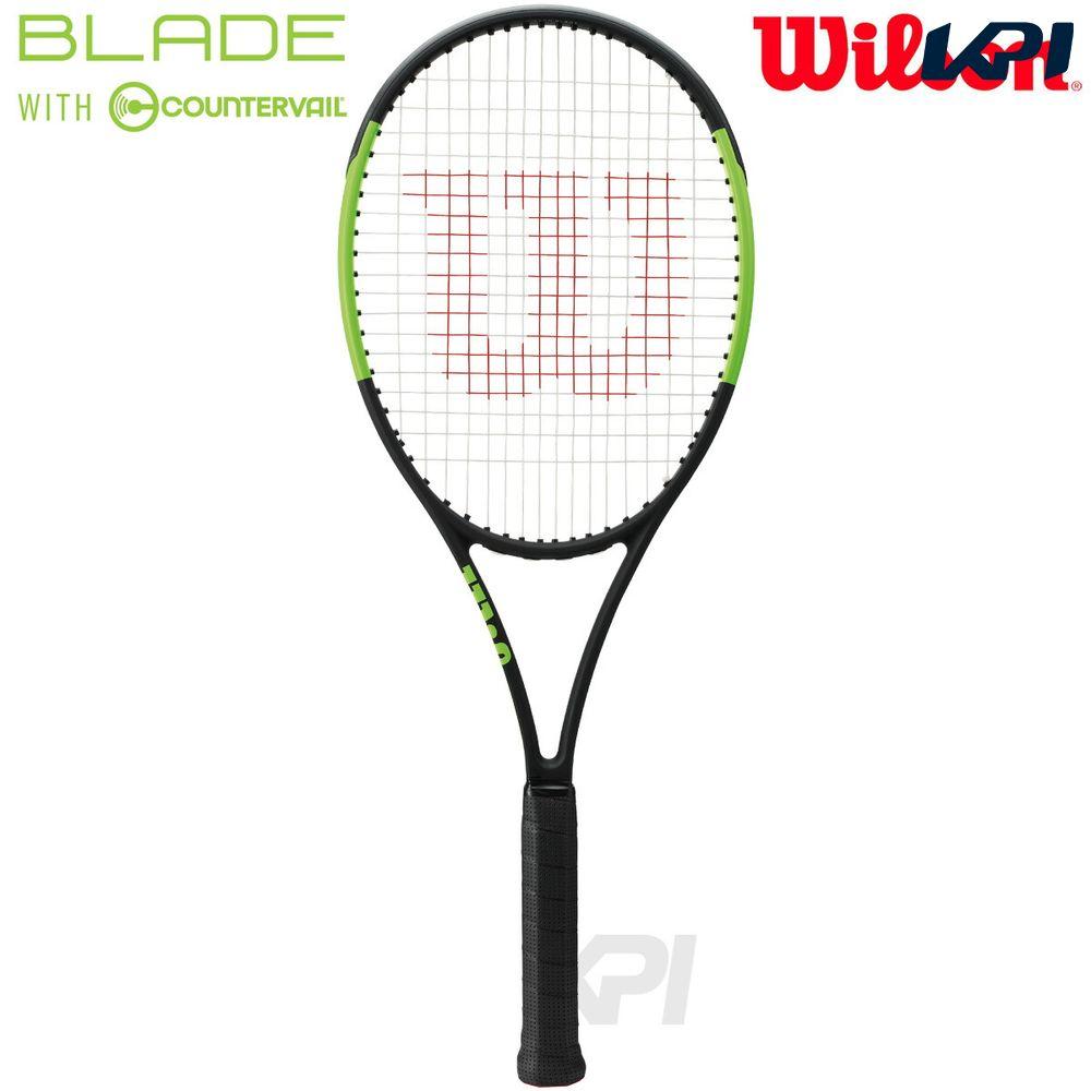 「2017新製品」Wilson(ウイルソン)「BLADE 98(16×19) COUNTERVAIL(ブレイド98 カウンターヴェイル) WRT733510」硬式テニスラケット(スマートテニスセンサー対応)【KPI】【kpi_d】