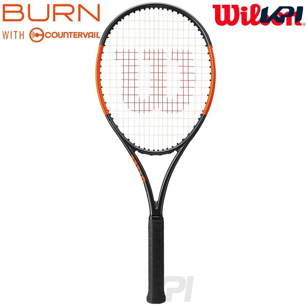 『全品10%OFFクーポン対象』「2017新製品」Wilson(ウイルソン)「BURN 100S COUNTERVAIL(バーン100S カウンターヴェイル) WRT734210」硬式テニスラケット(スマートテニスセンサー対応)