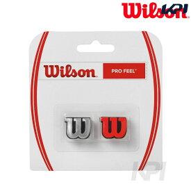【全品10%OFFクーポン】Wilson(ウイルソン)「PRO FEEL(プロフィール)レッド&シルバー WRZ537600」振動止め