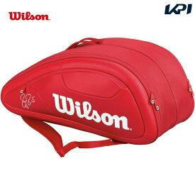 【全品10%OFFクーポン対象】『即日出荷』 Wilson(ウィルソン)[FEDERER DNA 12 PACK RD フェデラーモデル WRZ830712]テニスバッグ「あす楽対応」