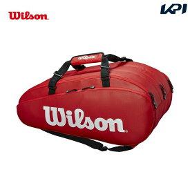 【全品10%OFFクーポン対象】「あす楽対応」ウイルソン Wilson テニスバッグ・ケース TOUR 3 COMP RED ラケットバッグ(ラケット15本収納可能) WRZ847915 『即日出荷』