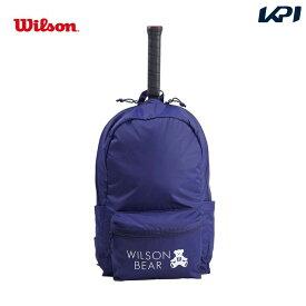 【全品10%OFFクーポン対象】ウイルソン Wilson テニスバッグ・バドミントンバッグ・ケース ONE BEAR BACKPACK NAVY バックパック(ラケット1本収納可能)WR8008002001