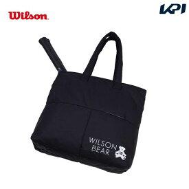 【全品10%OFFクーポン対象】ウイルソン Wilson テニスバッグ・バドミントンバッグ・ケース ONE BEAR TOTE BLACK トートバッグ(ラケット2本収納可能) WR8008101001