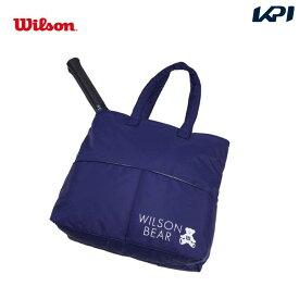 【全品10%OFFクーポン対象】ウイルソン Wilson テニスバッグ・バドミントンバッグ・ケース ONE BEAR TOTE NAVY トートバッグ(ラケット2本収納可能) WR8008102001