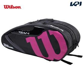 【全品10%OFFクーポン対象】ウイルソン Wilson テニスバッグ・ケース ラケットバッグ TEAM J 1.0 6PK チームJ 1.0 6本収納可能 WR8008605001