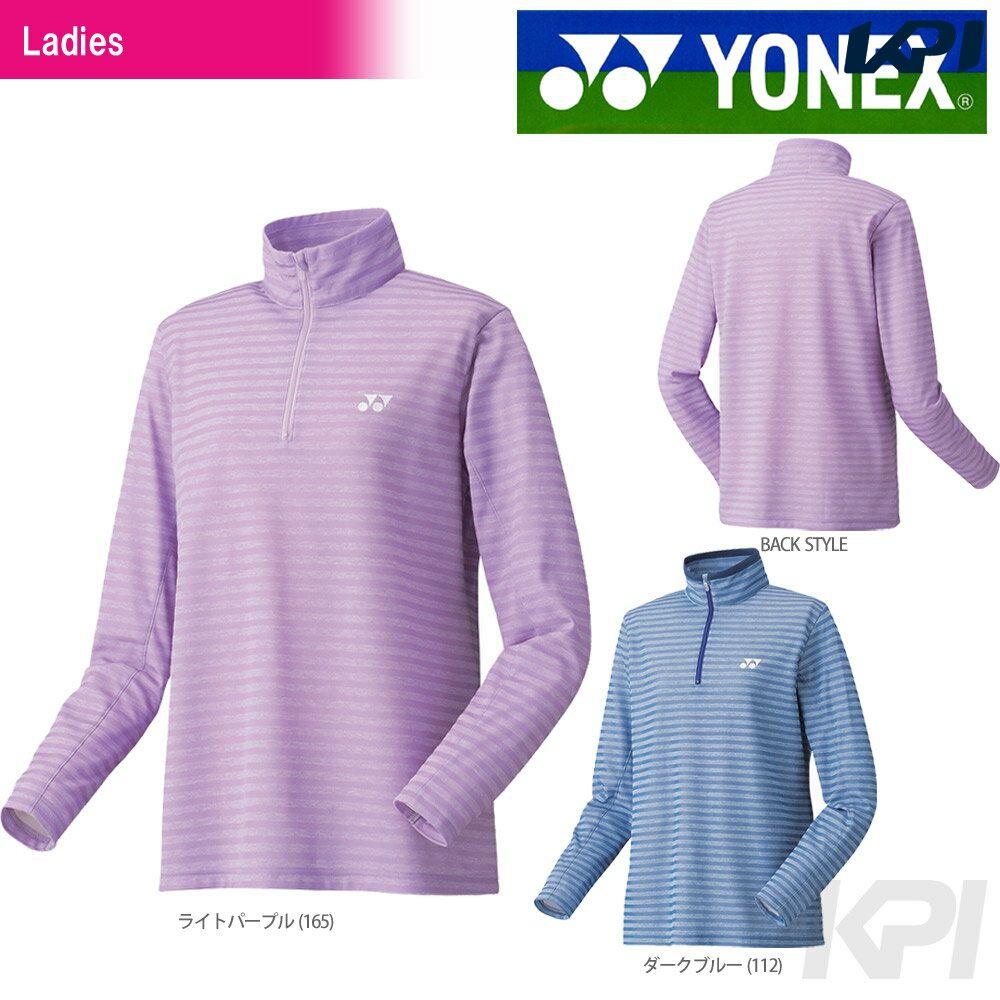 【30%OFFクーポン対象】「あす楽対応」YONEX(ヨネックス)「Ladies レディース スムースハーフジップシャツ(スタンダードサイズ) 38040」ウェア「FW」【KPI】『即日出荷』