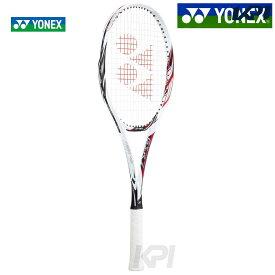 【全品10%OFFクーポン】YONEX(ヨネックス)「ジーエスアール7(GSR7) ホワイト×レッド GSR7-114」ソフトテニスラケット