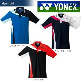 【全品10%OFFクーポン対象】「あす楽対応」YONEX(ヨネックス)「UNI ポロシャツ 10205」テニス&バドミントンウェア「2017SS」[ポスト投函便対応]『即日出荷』 夏用 冷感