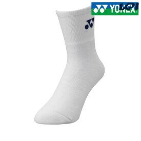 【全品10%OFFクーポン】ヨネックス YONEX テニスアクセサリー メンズ メンズハーフソックス 19122-011[ポスト投函便対応]