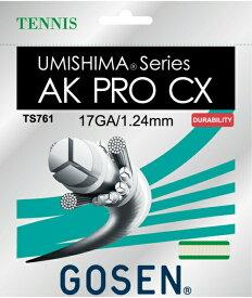 GOSEN(ゴーセン)「ウミシマ AKプロCX17」TS761 硬式テニスストリング(ガット)【kpi24】[ポスト投函便対応]