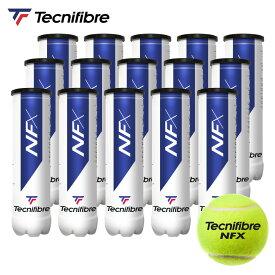 テクニファイバー Tecnifibre テニスボール NFX(エヌエフエックス)4個入 1箱(15缶/60球) TBA4NF1