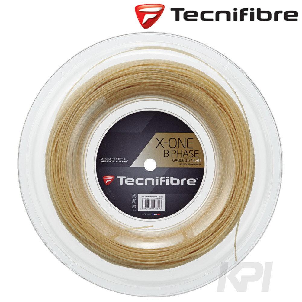 「あす楽対応」Tecnifibre(テクニファイバー)「X-ONE BIPHASE 1.30mm(エックスワン バイフェイズ) 200mロール TFR902」硬式テニスストリング(ガット)『即日出荷』