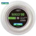 YONEX(ヨネックス)「NANOGY99(ナノジー99)200mロール NBG99-2」バドミントンストリング(ガット)【kpi24】