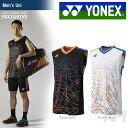 「9月下旬発売予定※予約」「2017新製品」YONEX(ヨネックス)「メンズ ノースリーブシャツ 10004LCW」バドミントンウェア
