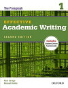 Effective Academic Writing: The Paragraph, Level 1 (Effective Academic Writing Second Edition) (英語)