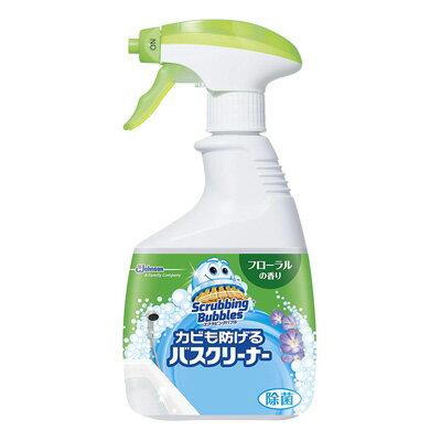 スクラビングバブル カビも防げるバスクリーナー フローラルの香り 本体(400ml)