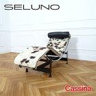 【中古】【展示良品】Cassina(カッシーナ) LC4 CHAIR / シェ−ズロング /白黒茶混毛皮