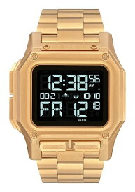NIXON ニクソン Regulus Stainless Steel レグルス 腕時計 メンズ クオーツ デジタル 46mm All Gold A1268-502-00 (A1268502)