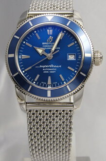 BREITLING superocean heritage 42 SS blue breath