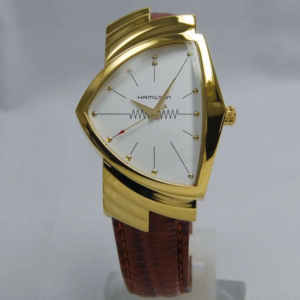 ハミルトン Hamiltonベンチュラ 60周年記念モデル ゴールドレザー H24301511 【NEWモデル】