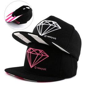 【あす楽対応 送料無料】 キャップ レディース キャップ メンズ 帽子 ダイヤモンド スナップバック キャップ 全4色 キャップ メンズ/キャップ/ストリート b系 BBキャップ ダンス 衣装 ダンスウエア ヒップホップ SNAPBACK ファッション 帽子UV対策