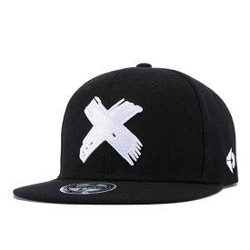 【あす楽対応 送料無料】 スナップバックキャップ スナップバック キャップ レディース メンズ ダンス X エックス バツ 黒 ブラック b系 cap black star snapback 帽子 クロス ワンポイント シンプル