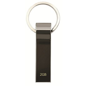 USBメモリー 2GB おしゃれ 衝撃に強い 超高速 USB3.0 USBフラッシュメモリー キャップレス メタル素材 キーリング付き 外部メモリー 記録用メモリー 超高速データ転送 USB2.0 USB1.1 互換 ポータブルデバイス Windows Mac Linux