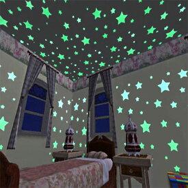 ウォールステッカー 蓄光 星 スター スマイル 月 ムーン 全6種類 貼ってはがせる ステッカー くり返し使用可 星空 星屑 ほんのり光る スターダスト 天井 壁 デコレーション y1