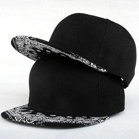 【あす楽対応 送料無料】 キャップ レディース キャップ メンズ 帽子 つばペイズリーつば スナップバックキャップ スナップバック キャップ レディース キャップ メンズ キャップ ダンス スナップバック キャップ 帽子
