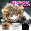 【メール便送料無料】 ライオン 猫 被り物 ねこ かぶりもの かわいい たてがみ ネコ 帽子 コスプレ グッズ ペット 変…