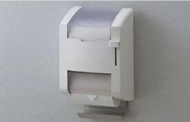 【TOTO】 スペア付紙巻器 (縦型タイプ) YH120N サイズ177×151×307 樹脂製 ペーパー芯受け付き 本体ホワイトカラー レバー式ワンタッチ ペーパー幅105〜114mm 芯あり対応