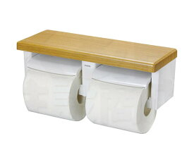 【TOTO】棚付二連紙巻器 YH600FM 樹脂製 サイズ320×120×105 棚:木質製 トイレアクセサリー ペーパーホルダー 3色展開 送料無料