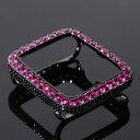 アップルウォッチ カスタムカバー RUBY スタイルCZダイヤ Series 2/3 42mm専用 BLACK x RUBY 時計 プレゼント メンズ …