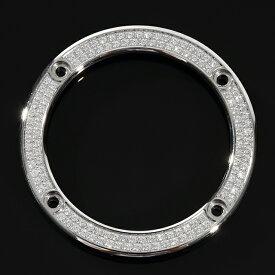 G-SHOCK G-Steel GST w100 s110 410 210 w300 w310シリーズ CZダイヤ カスタムカバー ベゼル 着せ替えパーツ 2連 ホワイトゴールド※動画あり