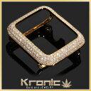 アップルウォッチ Apple Watch カバー バンド ベルト 14K GOLD かわいい かっこいい メンズ レディース 14K CZダイヤ(キュービック・...