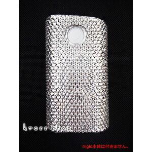 glo グロー ケース カバー デコ スワロフスキー キラキラ 電子タバコ メンズ デコケース デコカバー クリスタル