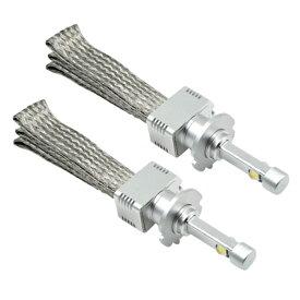 D2 D4 対応 LED フォグランプ バルブ 18W 4800lm CREE 6000K 12V 24V 左右2個 ホワイト フォグライト D2S D2C D4S D4C フォグバルブ 普通車 トラック