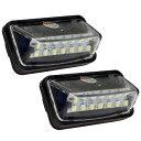 アルファード 30系 LED ナンバー灯 純正同等形状 SMD 高輝度 6500K 2個セット ライセンスランプ ライセンスライト ホ…