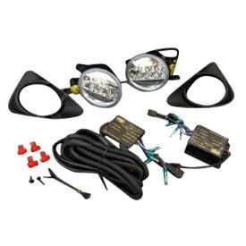 ヴィッツ 130系 LED デイライトフォグ ポジションランプキット カバー付 純正同等 LEDデイライト&ポジションフォグランプ _59418