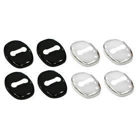 レクサス ISF 20系 ドアストライカーカバー 4個 ステンレス製 ブラッククロームメッキ 鏡面 シルバー 内装 傷防止 LEXUS ドレスアップ カスタム 専用 パーツ @_a960