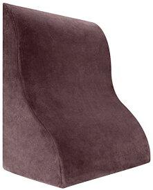 Meiz 最新型 三角クッション ベッド 背もたれ 体にフィット なだらか枕 読書用 クッション 腰楽 逆流性食道炎 プレゼント (ブラウン)
