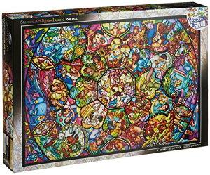 1000ピース ジグソーパズル ディズニー オールスター ステンドグラス 【ステンドアート】(51.2x73.7cm)