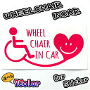 WHEELCHAIRINCAR 20cm 車椅子用ステッカー 福祉車両 国際シンボルマーク 介護車 介護 福祉 車用ステッカー安…