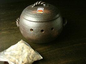 萬古焼 みすずの家庭用 石焼き芋鍋 丸形小 [ 日本製 石焼き芋土鍋 調理器 ]