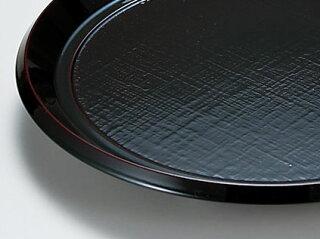 布目入丸そば皿溜+竹ス[盛皿すのこ付き越前漆器和食器]