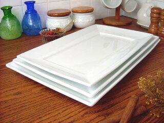 白い食器シェフスタイルマーレ角プラター28cm[スクエアプレート/長角皿/大皿/洋食器][業務用]