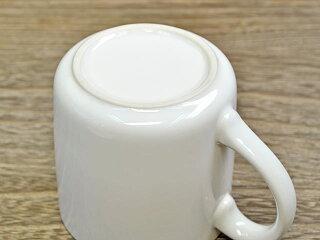 厚口腰丸マグカップ280cc白[白いコーヒーカップティーカップ][アウトレット訳あり特価品]