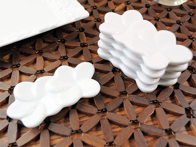 バリプラウ 二輪箸置き ホワイト 5個セット[ 2セットまでネコポスOK ][ アウトレット 訳あり特価品 ]