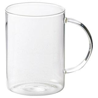 耐熱ガラス400mlロングマグ[軽い軽量アイスホットストレートガラス食器]