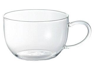 耐熱ガラス片手スープカップ[軽い軽量ガラス食器]